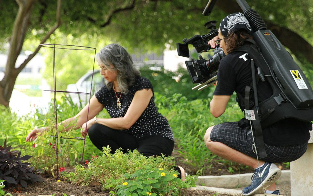 Story Half Told: Esther Director and Producer, Chris Valentino, on set Texas